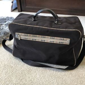 Burberry tote- overnight bag
